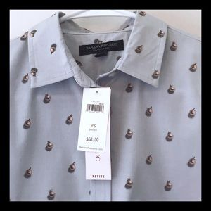 NWT Banana Republic Dillon Button Collar Shirt PS
